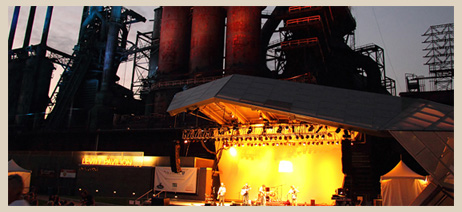 Levitt Pavilion Steel Stacks Stage